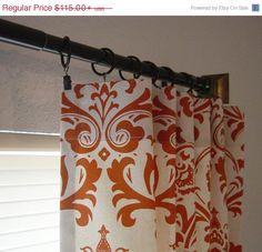 SALE Damask Curtains Custom Drapes Panels Sweet by SewPanache, $105.00