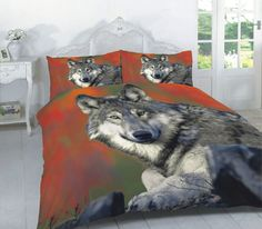 Animal Wolf 3D Effecr Duvet Cover Bedding Set