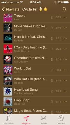 David Guetta, Flo Rida, Fall Out Boy, Ghostbusters, Workout, Work Outs