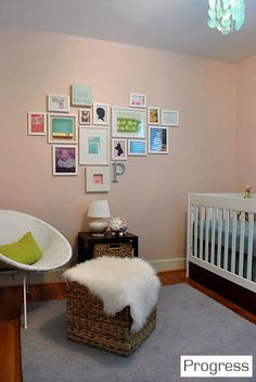 Would love to do this in Stanton's room.. Can you see a theme??  Picture frame collage walls!!