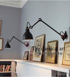 Nordic IKEA минималистском дизайнер прикроватный светильник стены спальни творческой личности гостиной лампы кронштейн можно поворачивать для регулировки - Taobao
