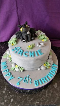 How to train your dragon birthday cake.