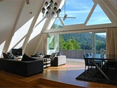 Accommodation Queenstown, Chic Chalet , Queenstown Holiday Home A Frame House, Luxury Accommodation, Double Bedroom, Dining Table, Lounge, Chic, Interior, Outdoor Decor, Furniture