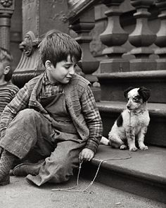 Such a loving look!  West Side N.Y.C. 1948. Kudos to the photographer! Thank You!