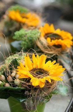 Blumen Tischdeko - eine frische Idee!