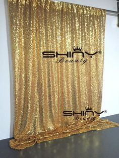 4FT*6FT Gold Sequin Photo Backdrop,Wedding Photo Booth, Photography Background #AiMei_Wedding
