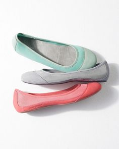 Comfy slip-on shoes are a must while traveling! We love the fun hues of the  Patagonia Maha Breathe Mesh Ballet Flats.
