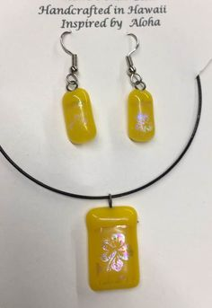 Molten Mama Fused Glass Pendents Sets, fused glass jewelry, glass pendents, Big Island Glass