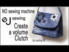 up cycling - cycle/Without a sewing machine/삼각 클러치 만들기/Create Clutch Diy Bags Jeans, Diy Crafts Tv, Denim Bag Patterns, Jeans Recycling, Net Bag, Purse Tutorial, Macrame Bag, String Bag, How To Make Clothes
