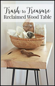 This trash to treasure reclaimed wood table is a great use of old salvaged wood. | Twelveonmain.com