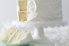 White Dress Chocolate Butter Cake, Chocolate Flavors, Moist White Cake, Vanilla Bean Cakes, Sour Cream Cake, Ice Cream, Cake Recipes From Scratch, Frozen Cake, Moist Cakes