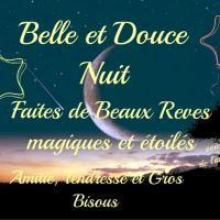 Belle et Douce Nuit. Faites de Beaux Rêves magiques et étoiles