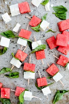 Savor the sweet and savory side of summer with these Watermelon-Fets bites - perfect for your summer garden party.