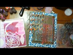 Art Geeks: Gelli Plate fun - Christy Sobolewski Showing the ways I have found to use the new Gelli plate for art journaling and how I keep my plate clean and like new.