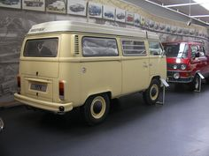 A 1978 Syncro Westfalia prototype at the VW Museum in Germany.  I can't even describe how much I want this!