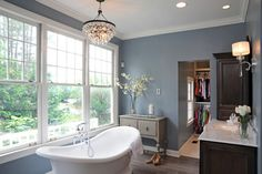 Pine Valley Whole House Remodel - traditional - bathroom - columbus - Courtney Burnett-Benjamin Moore Water's Edge