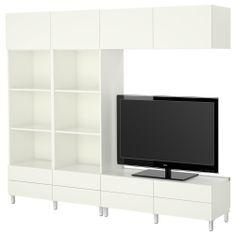 BESTÅ Combinaison meuble TV - blanc - IKEA