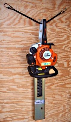 Trimmer Trap Hedge Trimmer Holder Hanger Rack Stihl Redmax Enclosed Trailer SO-1 #TrimmerTrap
