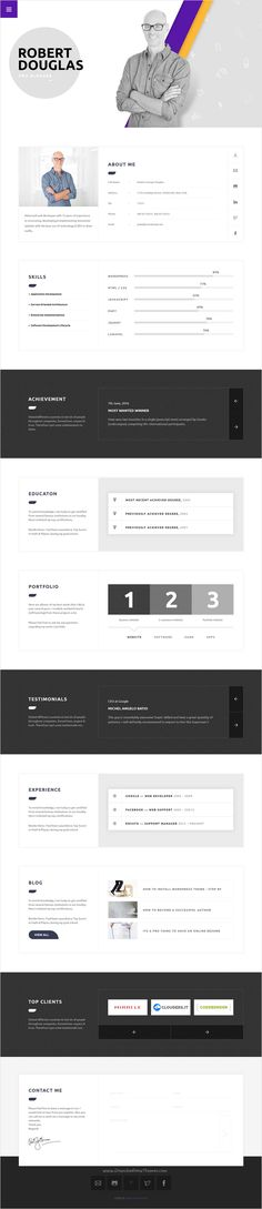 Cindy J Creative Portfolio \/ Blog \/ CV HTML Theme Creative - resume in html format