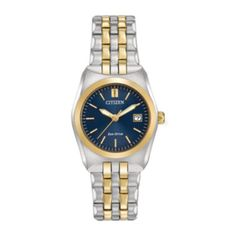 Citizen® Eco-Drive® Corso Womens Two-Tone Stainless Steel Bracelet Watch EW2294-53L  found at @JCPenney