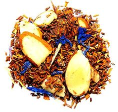 Nelsons Tea Glass Slipper Vanilla Cherry Almond Rooibos Herbal Tea Caffeine Free Loose Leaf Looseleaf with almonds cornflowers and natural flavors  4 oz ** Click image to review more details.