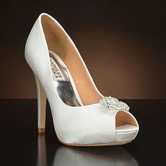 Caitlyn by Badgley Mischka. Choose from the largest selection of wedding shoes from top designers at My Glass Slipper. In-stock styles ship same day.