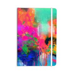 "Oriana Cordero ""Montesilvano-Abstract"" Rainbow Painting Everything Notebook"