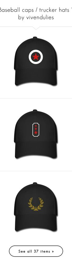 """Baseball caps / trucker hats  by vivendulies"" by silkester on Polyvore featuring accessories, hats, skull hat, texas longhorns hat, truck caps, trucker hat, caps hats, ddp, rock hats und fish cap"