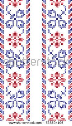 How to Crochet Wave Fan Edging Border Stitch - Crochet Ideas Cross Stitch Borders, Cross Stitch Flowers, Cross Stitch Designs, Cross Stitch Charts, Cross Stitching, Cross Stitch Patterns, Crotchet Stitches, Cross Stitch Cushion, Palestinian Embroidery