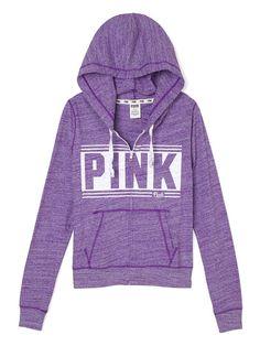 Beach Zip Hoodie - PINK - Victoria's Secret
