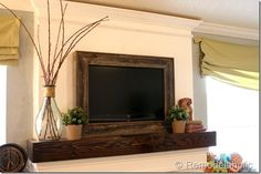 Great ideas to camouflage or completely hide a TV so it's not the focal point of a room!