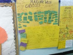 """Teaching Picture Books to Foster Critical Thinking: Inspired by Dr. Seuss' The Lorax, students learned that the choices we make influence consequences. Students examined their conscience by reflecting upon the daily choices they make. In a graphic organizer, students separated their choices by asking themselves, """"Was this a wise choice?"""" They categorized their answers with """"Absolutely!"""" """"No Way!"""" Or """"Maybe."""""""