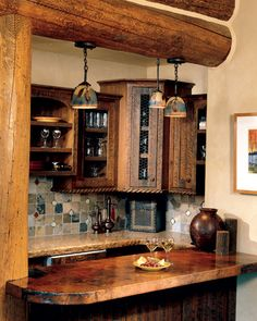 Montana - Timber Home Living I like this kitchen