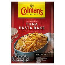 A Seasoning Mix with Tomato, Cheese and Spices for Tuna Pasta Bake Baked Pasta Recipes, Tuna Recipes, Tuna Pasta Bake, Tesco Groceries, Recipe Mix, Milk Cans, Seasoning Mixes, Crisp, Spices