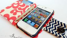 Sew an iPhone or Smartphone Wallet - Free Sewing Pattern + Tutorial