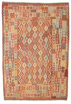 Kelim Afghan Old style matta 244x353