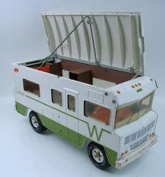 One of my favorite toys!!! 1970's Tonka Truck VW RV Indian WINNEBAGO Camper Motorhome