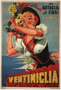 19th Battle of Flowers, Ventimiglia- Italy 1957❤️