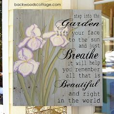 garden quotes Front Porch Art or Back Porch Prayer Garden, Flower Garden Design, Garden Signs, Garden Fences, Garden Quotes, Diy Pergola, Pergola Plans, Cheap Pergola, Just Dream