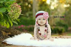 Love the hat...and what a beautiful baby!