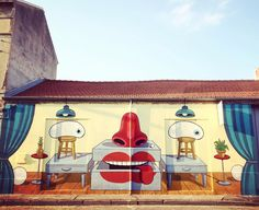"""Mister Thoms, """"Surreale Arredo Urbano"""" for Fall out festival in Trino, Italy, 2017"""