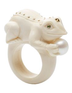 Toad On A Pearl Ring | Marissa Collections