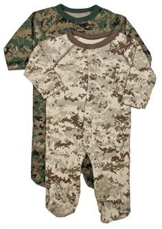 2pk Digital Desert & Woodland Sleepers | Infant and Toddler Clothing | Kids | Sgt Grit - Marine Corps Store