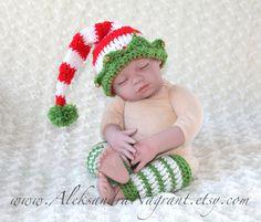 Baby crochet elf