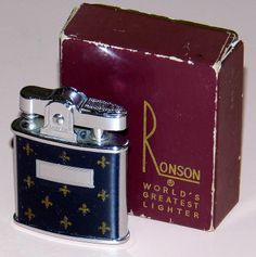 Vintage Ronson Princess Cigarette Lighter, Made In USA, Circa 1953