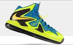 Electric Yellow Lebron X Elite Blue Hero Sport Teal Metallic Gold