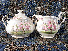 Royal Albert Blossom Time Creamer And Sugar English Bone China