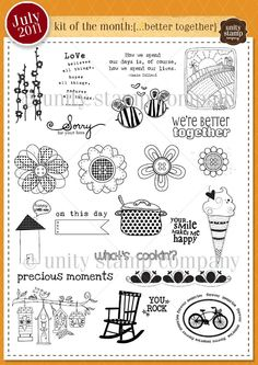 Unity Stamp Company July 2011 Kit of the Month