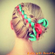 Turquoise and coral hair!