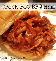 South Your Mouth: Barbequed Ham Sandwiches {Crock Pot}